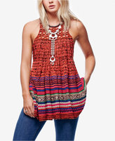 Free People Rare Hearts Striped Knit Tunic