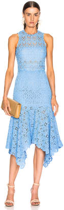 Jonathan Simkhai Crochet Lace Handkerchief Dress in Sky Blue | FWRD