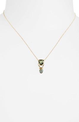 Daniela Villegas Khepri Tourmaline, Sapphire & Emerald Pendant Necklace