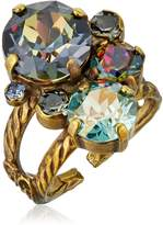 "Sorrelli Crystal Patina"" Crystal Assorted Rounds Adjustable Ring, Size 7-9"