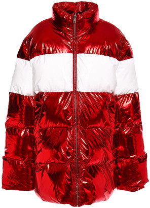 pushBUTTON Metallic Quilted Shell Down Jacket
