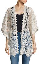 Anna Sui Kimono-Sleeve Open Lace Cardigan