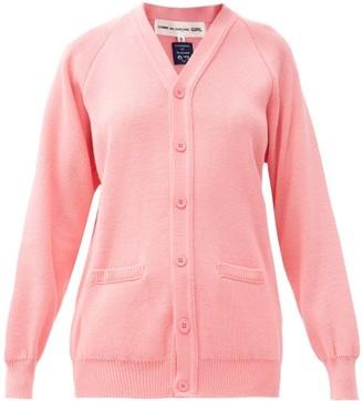 COMME DES GARÇONS GIRL V-neck Knitted Cardigan - Pink