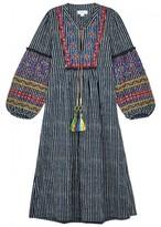 Velvet by Graham & Spencer Ilene Embroidered Striped Cotton Dress