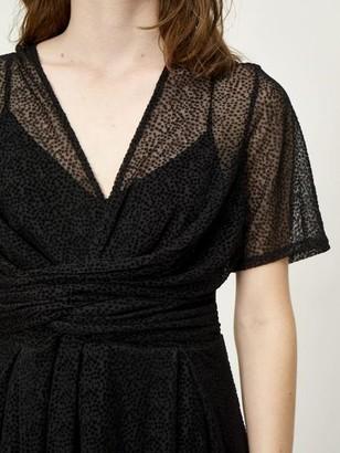 Sale - Just Female Dotty Dress Black - XS