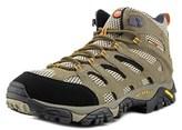 Merrell Moab Mid Gore-tex Men Round Toe Canvas Gray Hiking Shoe.
