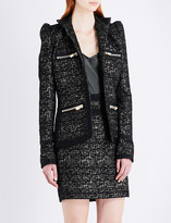 Alexandre Vauthier Single-breasted metallic tweed blazer