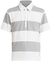 Thom Browne Short-Sleeve Cotton Rugby Shirt
