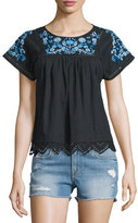 Rebecca Taylor Garden Floral-Embroidered Top