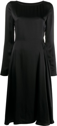 Maison Margiela Satin Long-Sleeve Midi Dress