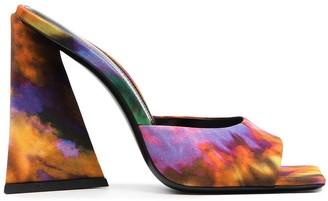 ATTICO Tie-Dye Print Mules