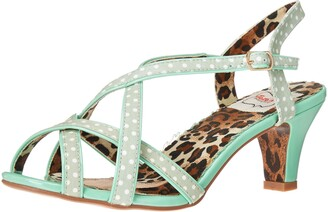 Bettie Page Women's 250-Gracie Slingback Sandal Mint 8
