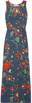 Diane von Furstenberg Printed Silk-blend Crepe De Chine Wrap Dress - Blue