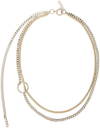Justine Clenquet Gold and Silver Jane Choker