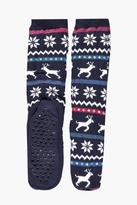 Boohoo Reindeer Slipper Socks