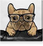 Oliver Gal Nerdy Frenchman Wall Art, 10 x 10