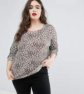 Asos Soft Jumper In Leopard Print