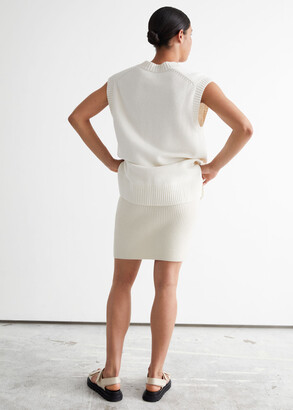 And other stories Ribbed Mini Skirt