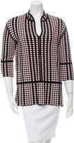 Tory Burch Polka Dot V-Neck Sweater