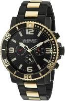 August Steiner Men's AS8179YG Analog Display Swiss Quartz Two Tone Watch