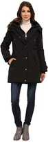 DKNY Hooded Faux Fur Collar Parka w/ Inner Bib 46115-Y5