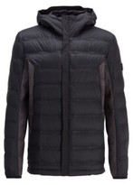 HUGO BOSS - Link Down Jacket With Seasonal Quilting And Embossed Panels - Black