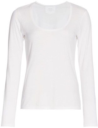 Frame Scoopneck Long-Sleeve Top