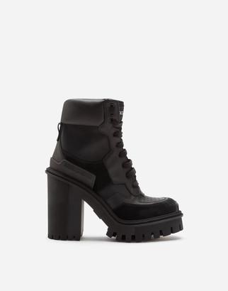 Dolce & Gabbana Mixed-Material Trekking Boots
