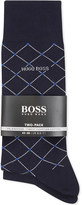 HUGO BOSS Diamond & plain cotton socks pack of two