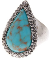 Lucky Brand Turquoise Teardrop Pave Ring - Size 7