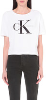 Calvin Klein Cropped cotton t-shirt