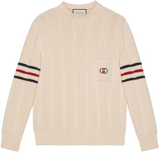 Gucci Knit cotton sweater with InterlockingG