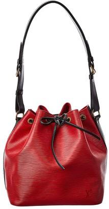 Louis Vuitton Red Epi Leather Petit Noe