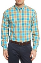 Cutter & Buck Men's Big & Tall Point Sur Regular Fit Plaid Sport Shirt