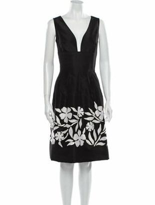 Oscar de la Renta 2015 Knee-Length Dress Black