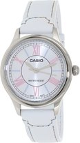 Casio Women's LTPE113L-7A Leather Quartz Watch