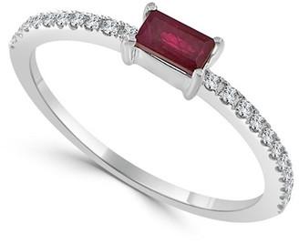 Sabrina Designs 14K 0.23 Ct. Tw. Diamond & Ruby Ring