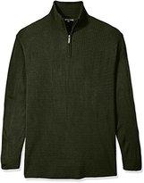 Geoffrey Beene Men's Big-Quarter Zip Sweater