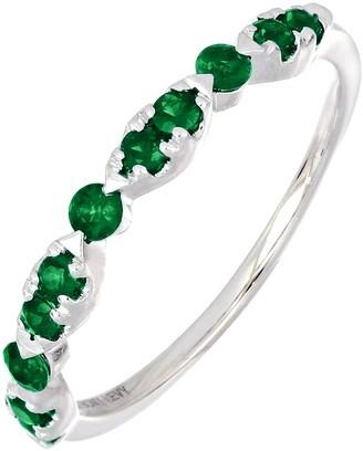 Bony Levy 18K White Gold Emerald Stacking Ring