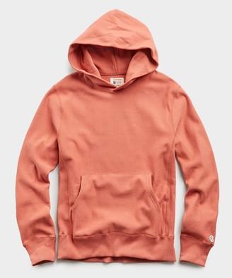 Todd Snyder + Champion Lightweight Popover Hoodie Sweatshirt in Orange Russet