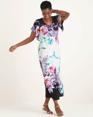 Chico's Chicos Floral Patchwork Maxi Dress