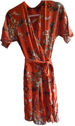 Ikks Orange Cotton Dress for Women