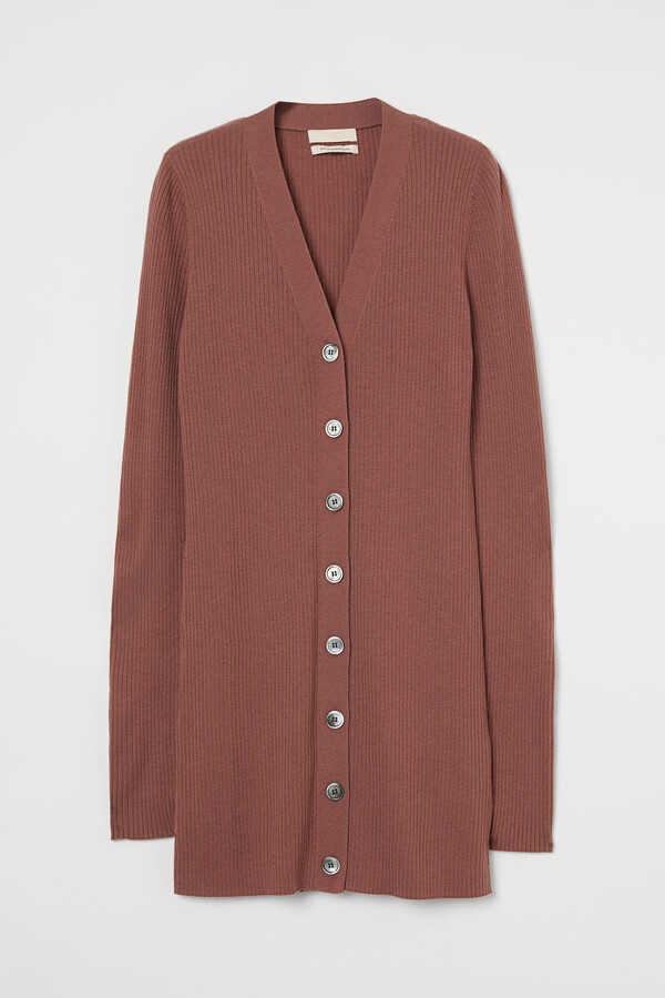H&M Ribbed wool cardigan