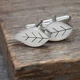 Diana Greenwood Jewellery Pierced Silver Leaf Cufflinks