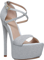 KG by Kurt Geiger Nannette Platform Stiletto Heeled Sandals, Silver