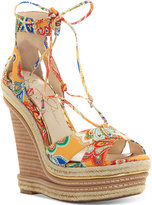 Jessica Simpson Adyson Lace-Up Wedge Sandals