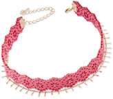 INC International Concepts Gold-Tone 2-Pc. Set Pink Faux Suede Choker Necklaces, Created for Macy's
