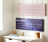 Pottery Barn Kids Brother Plaque