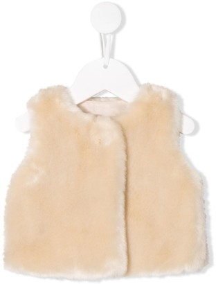 Chloé Kids faux fur waistcoat