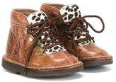 Pépé lace-up ankle boots - kids - Calf Leather/Leather/Calf Hair/rubber - 21